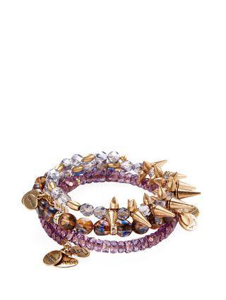 Starlet Rock & Raw Charm Bracelets (Set of 3) by Alex & Ani at Gilt