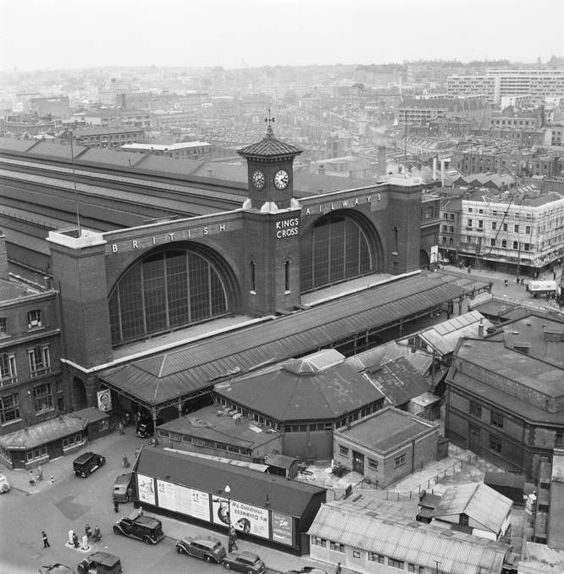 Kings Cross station, 1952.