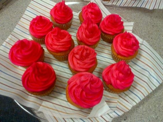 Big pink fired up cupcakes by Chef Blythe Beck!!