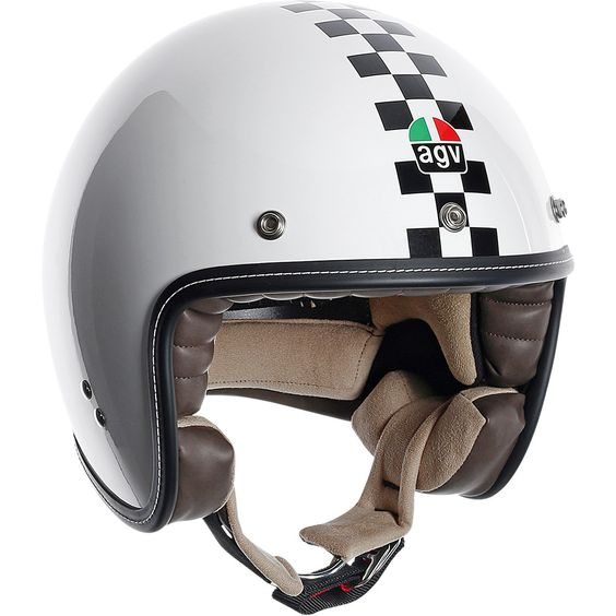 AGV RP60 Checker Helmet The RP60 Checker Helmet is a tribute to the AGVs racing tradition that goes back to the 1947. The RP60 is a remake of the racing helmets worn in the 50s and 60s by Italian AGVs