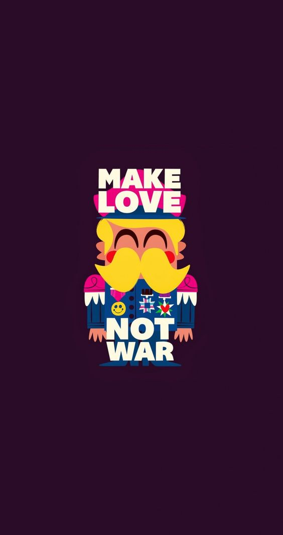 Make love not war. Tap image for more cartoon wallpapers! - @mobile9 ...