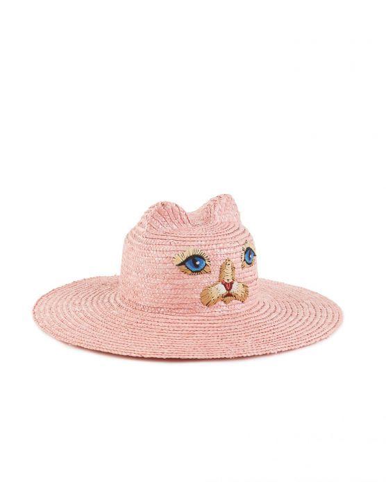 Cappello Di Paglia Gatto Vivetta Gilmarlab Boutique In 2021 Straw Hat Hats Vivetta