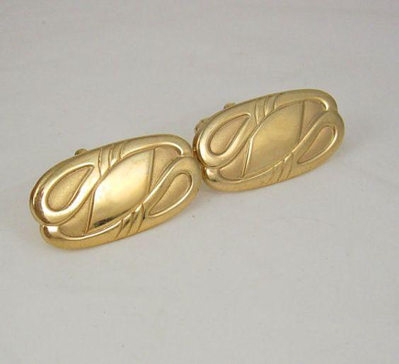 Vintage Art Deco Cufflinks Blank Signet Large by NeatstuffAntiques, $50.00