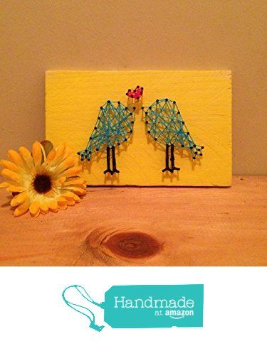 Love birds string art, string art, wooden sign, wall decor, bedroom decor, wedding sign, sweetheart table decoration from Hangups & More https://www.amazon.com/dp/B01DIMRUTA/ref=hnd_sw_r_pi_dp_auRyxbC208DQE #handmadeatamazon