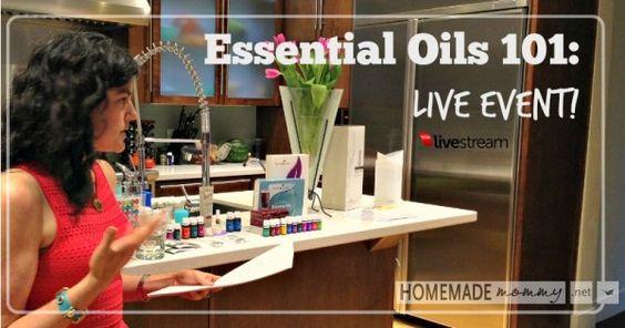 Essential Oils 101 Live Event