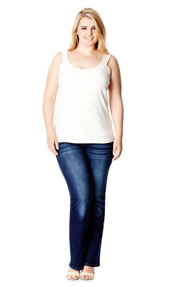 City Chic - JET POCKET BOOTLEG JEAN - Women's Plus Size Fashion #citychic #citychiconline #newarrivals #plussize