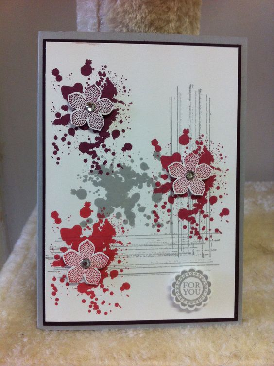 Stampin Up! Gorgerous Grunge and petite petals stamp sets and matching flower punch. Currently all available from annual catalogue. Made by Ladymajik Creations.: