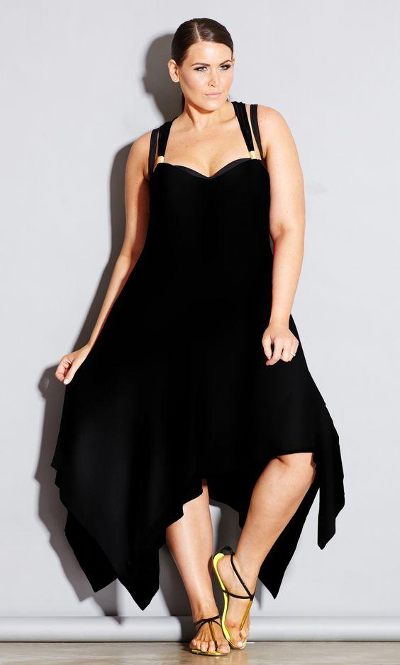 City Chic MONACO HI LO DRESS - Women's Plus Size Fashion - Swim - Resort #citychic #citychiconline #newarrival #plussize #fashion