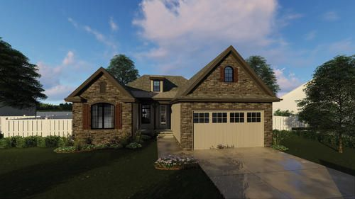 This Is A Single Story Traditional House With Cathedral Ceilings And A Fireplace In French Country House Plans Country Style House Plans Craftsman House Plans