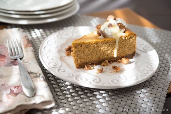 Dulce de Leche Pumpkin Cheesecake with Candied Walnuts - Inspiration ...