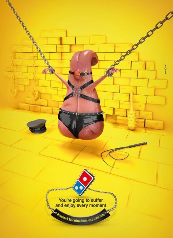 Domino's Pizza has always taken a rather lighthearted approach to advertising (remember the Noid?) but when it comes to creating national ad campaigns it can be really easy to take humor too far.Take this Sriracha Pizza spot Domino's wisely decided not to include in their Superbowl ad campaign:The ad was created by advertising agency McCann Israel, and even though the pitch was never approved the image inevitably made its way online and is now causing quite a stir. Domino's reps are ardently…