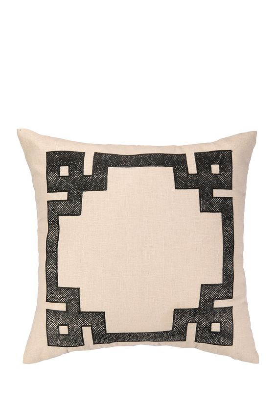 Skin Border Embroidered Large Square Pillow - Black by Nanette Lepore on @nordstrom_rack
