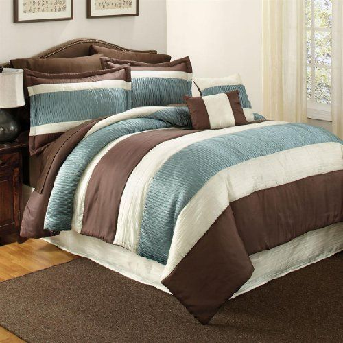 Brylanehome Essex Oversized Comforter by BrylaneHome. $69.99. You'll take a shine to this oversized comforter with a soft sheen, pieced stripes and beautiful texture as it brightens up your bedding.  • A BrylaneHome® Exclusive! • available in two colors: Purple and Blue/Brown • polyester • machine wash • imported • check out our selection of vibrant sheet sets to add an extra splash of color to your décor • and make sure you shop the rest o...