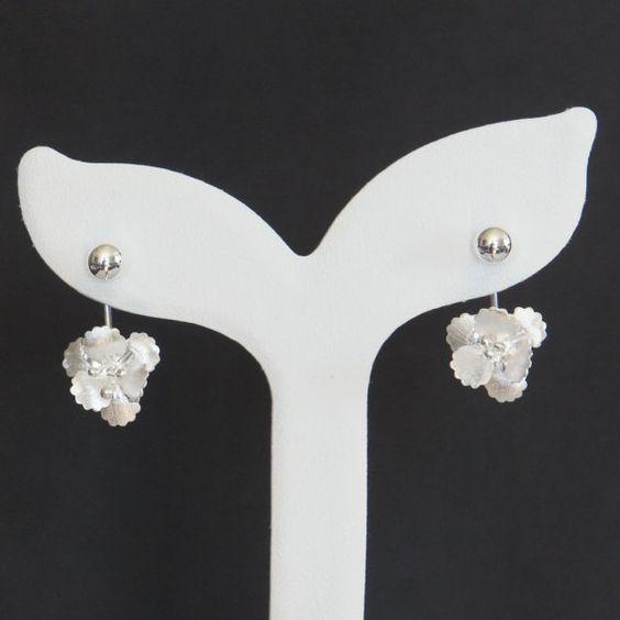 Sterling Silber Ohrringe Orchidee Ohrringe von kyooziAccessories