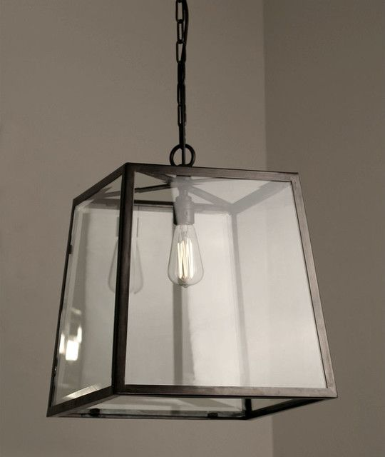 Square Metal Framed Outdoor Hanging Pendant Lights Shade