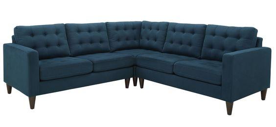 Nixon Sectional Upholstered Fabric Fabric Sectional Fabric Sectional Sofas