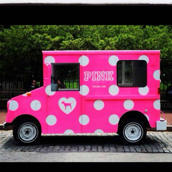 <3 it - Victoria Secret Pink Polka dot truck