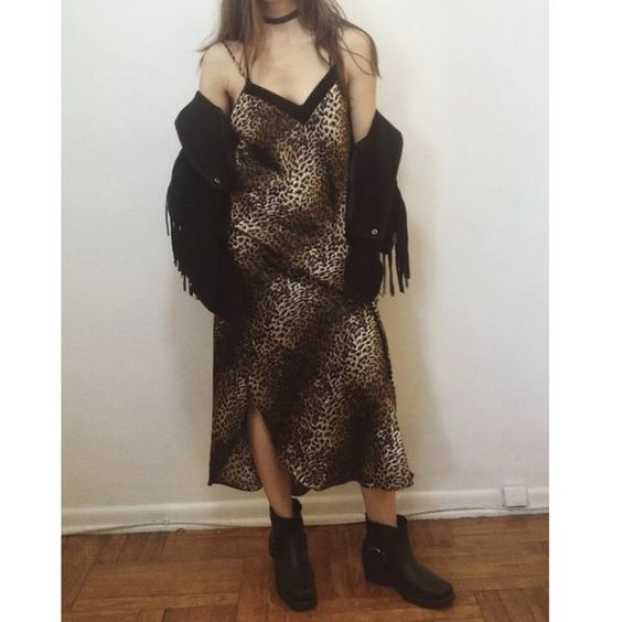 """Vintage Leopard Print Satin Maxi Slip Dress M Vintage Leopard Print Satin Maxi Slip Dress Medium <<<<<<<<<<<<<<<<<<<<<<<<<<<<<<<<<<<<<<<<  good condition, no stains or holes, one strap adjuster is broken and held up with a safety pin  100% polyester satin bias cut  Size Medium  48"""" long 17"""" across chest laying flat 24"""" across hip laying flat  Part of the ROCK N ROLL COLLECTION. Vintage Dresses Maxi"""