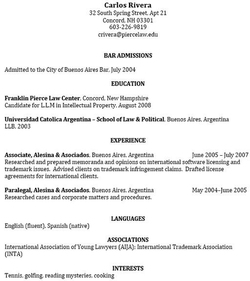 Sample Resumes University Career Services 3 -    wwwjobresume - intellectual property attorney sample resume