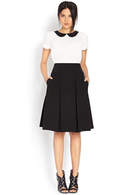 Womens Black Midi Skirt
