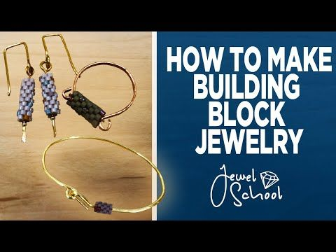 Building Block Inspired Jewelry Jewelry 101 Youtube Bead Weaving Tutorials Diy Wire Jewelry Bead Stringing