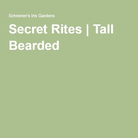 Secret Rites | Tall Bearded