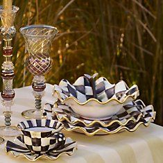 MacKenzie-Childs Dinnerware & MACKENZIE-CHILDS COURTLY CHECK ENAMELWARE GROUP | check mate ...