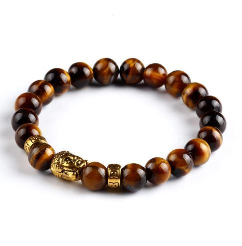 Gold Laughing Buddha Lucky Charm Bracelets Multi Colors