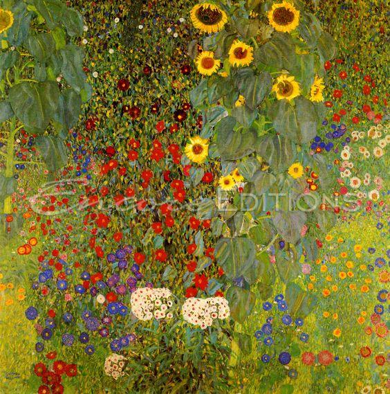 Klimt garden paintings - Google Search
