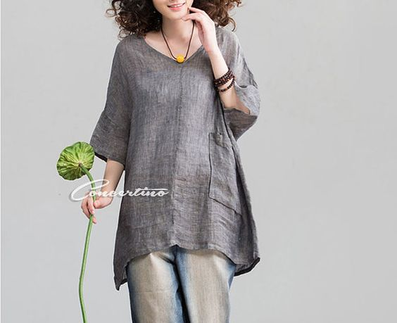 Linen Shirts Tunics And Gray On Pinterest