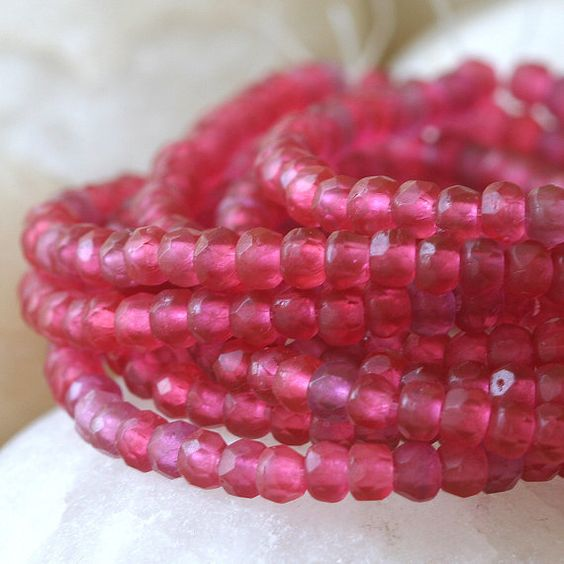 3x2mm Rondelle  Tiny Czech Glass Beads  Spacer by funkyprettybeads