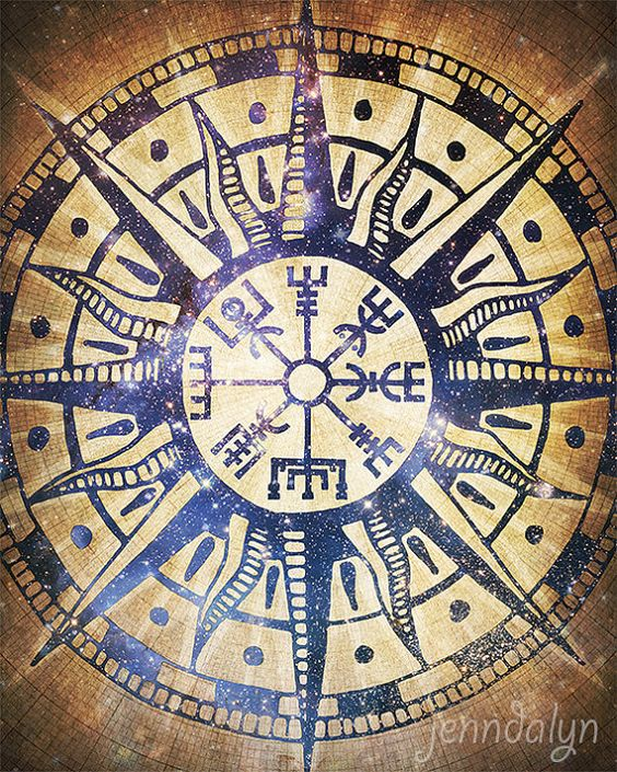 Vegv sir conception islandaise viking estampe rose - Symbole viking tatouage ...