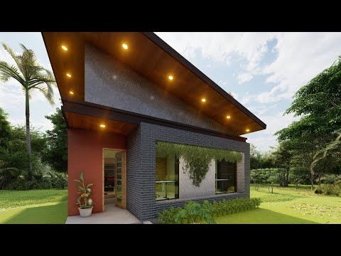 House Plans 8x11 With 3 Bedrooms Full Plans Casa Pequena E Simples 8x11 Planta 3d Para