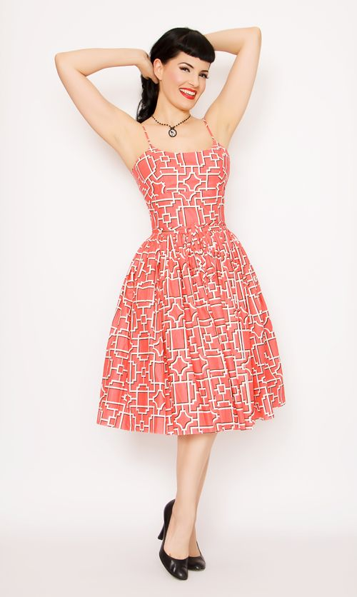 Prom dress 50s style pin up