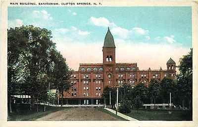 Clifton Springs New York NY 1920s Sanitarium Main Building Vintage Postcard