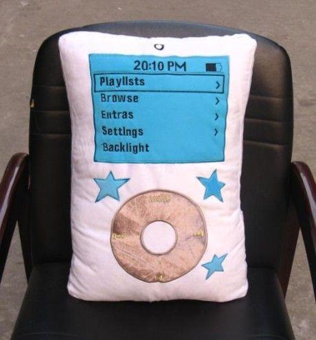 Soft and comfortable iPod cushion