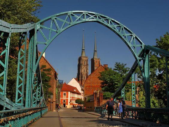 Wrocław - most  Tumski  -  the Tumski bridge