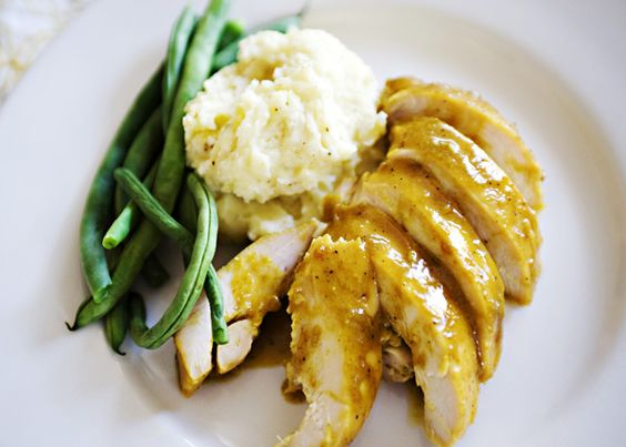 Easy Overnight Chicken with dijon, honey, and curry powder. I made this for dinner tonight, excellent!