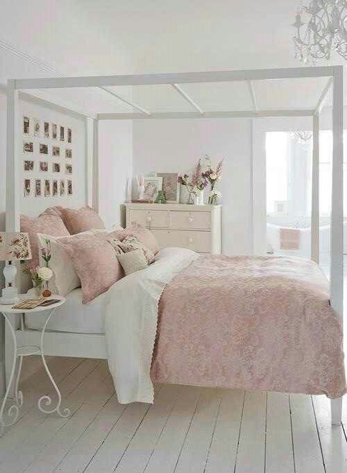 diy pink white bedroom ideas the balance between white and pink is nice - Bedroom Ideas White