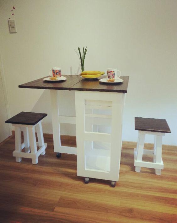 Mesa auxiliar para cocina plegable mesas - Mesa extraible cocina ...