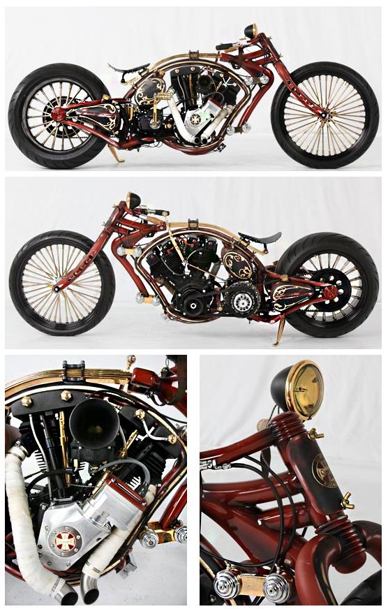 badass custom motorcycle — chopper, cycles, Harley, modified