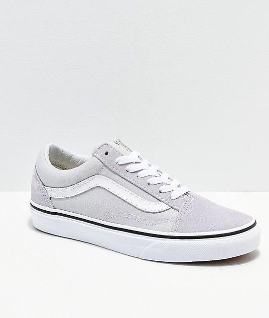 Vans Old Skool Gray, Dawn \u0026 White Shoes