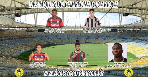 O Bi campeão Vasco disputará a série B em 2016 e por conta disto, não aparece nos nossos destaques do campeonato carioca, por conta fique atento as jogadores do Botafogo : Ribamar e Diogo Barbosa Veja mais em http://www.botecocartola.com.br/dicas-cartola-fc