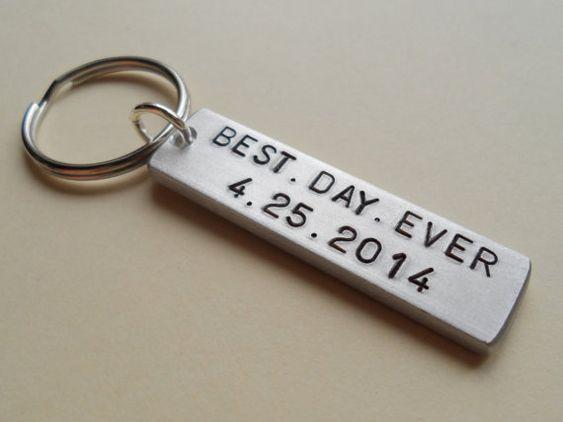 Wedding Gift For Fiance: Wedding Anniversary Keychain, Couples Keychain Gift