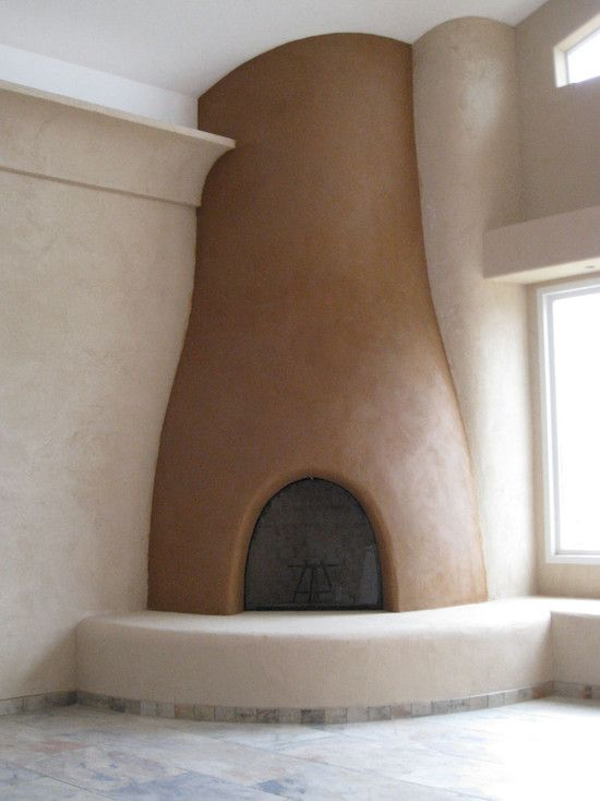 Humel Straw Bale Home with Clay Plaster - spaces - san diego - Simple Construct: