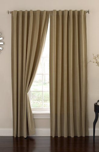 Absolute Zero Velvet Blackout Home Theater Curtain Panel, 95-Inch ...