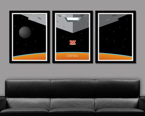 Star Wars A New Hope Inspired Minimalist Movie Poster Set Edition One - Home Decor by BigTimePosters on Etsy https://www.etsy.com/listing/181401369/star-wars-a-new-hope-inspired-minimalist
