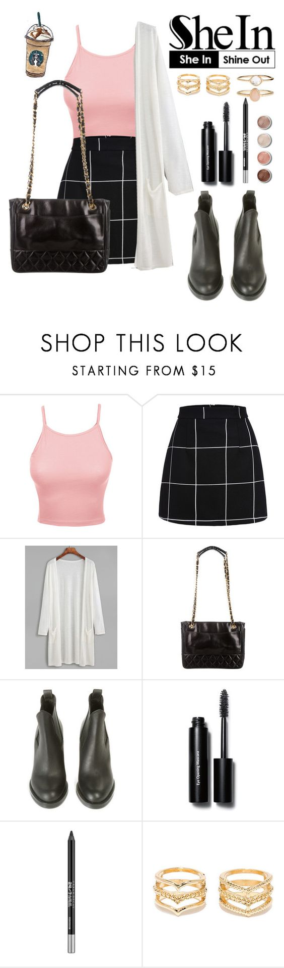 """""""Untitled #253"""" by dlnphung ❤ liked on Polyvore featuring LE3NO, WithChic, Chanel, Acne Studios, Bobbi Brown Cosmetics, Urban Decay, Terre Mère, LULUS and Accessorize"""