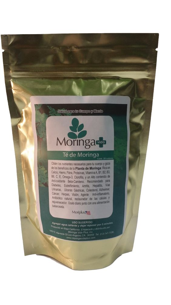 Té de Moringa contiene 20 sobres