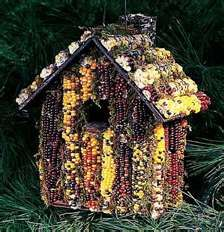Indian corn birdhouse !  love it !